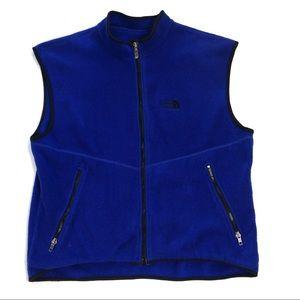 The north face vintage men's fleece vest